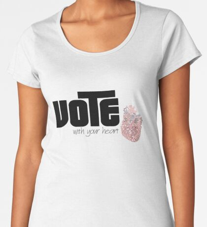 Voting By Conscience Premium Scoop T-Shirt