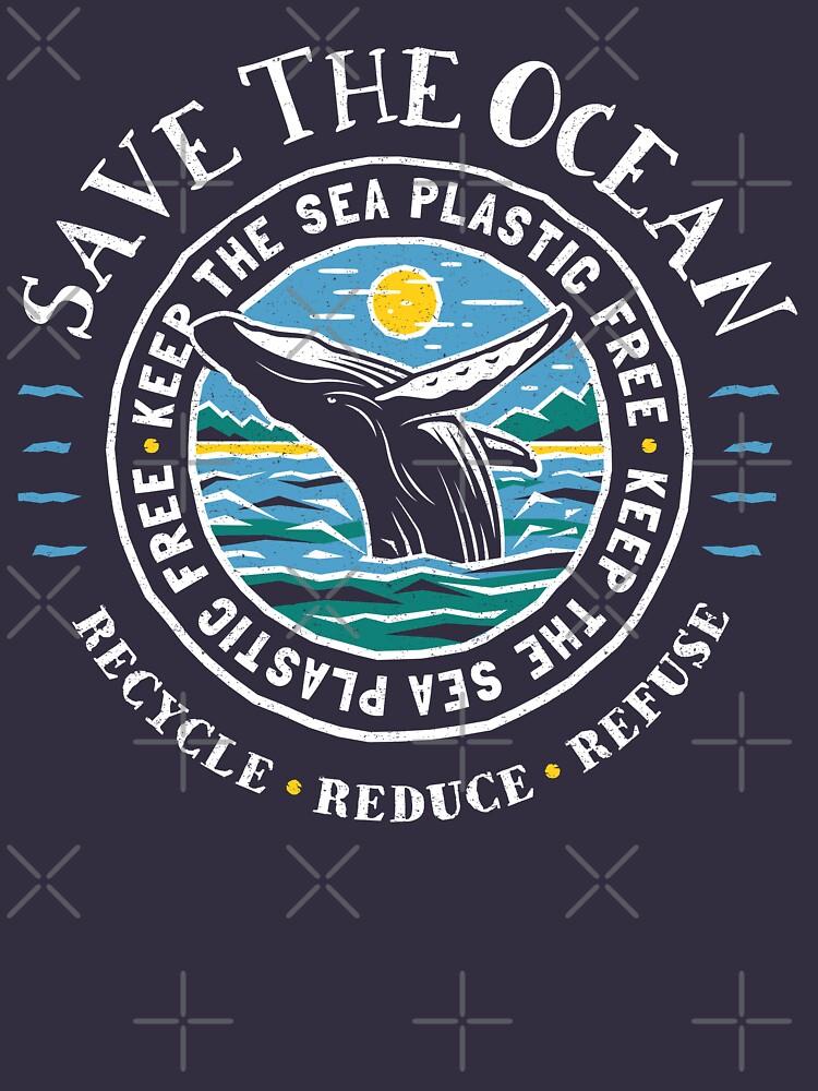 Save The Ocean - Keep the Sea Plastic Free - Humpback Whale by Bangtees