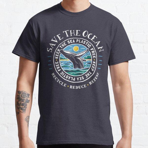Rette den Ozean - Halte das Meer frei von Plastik - Buckelwal Classic T-Shirt
