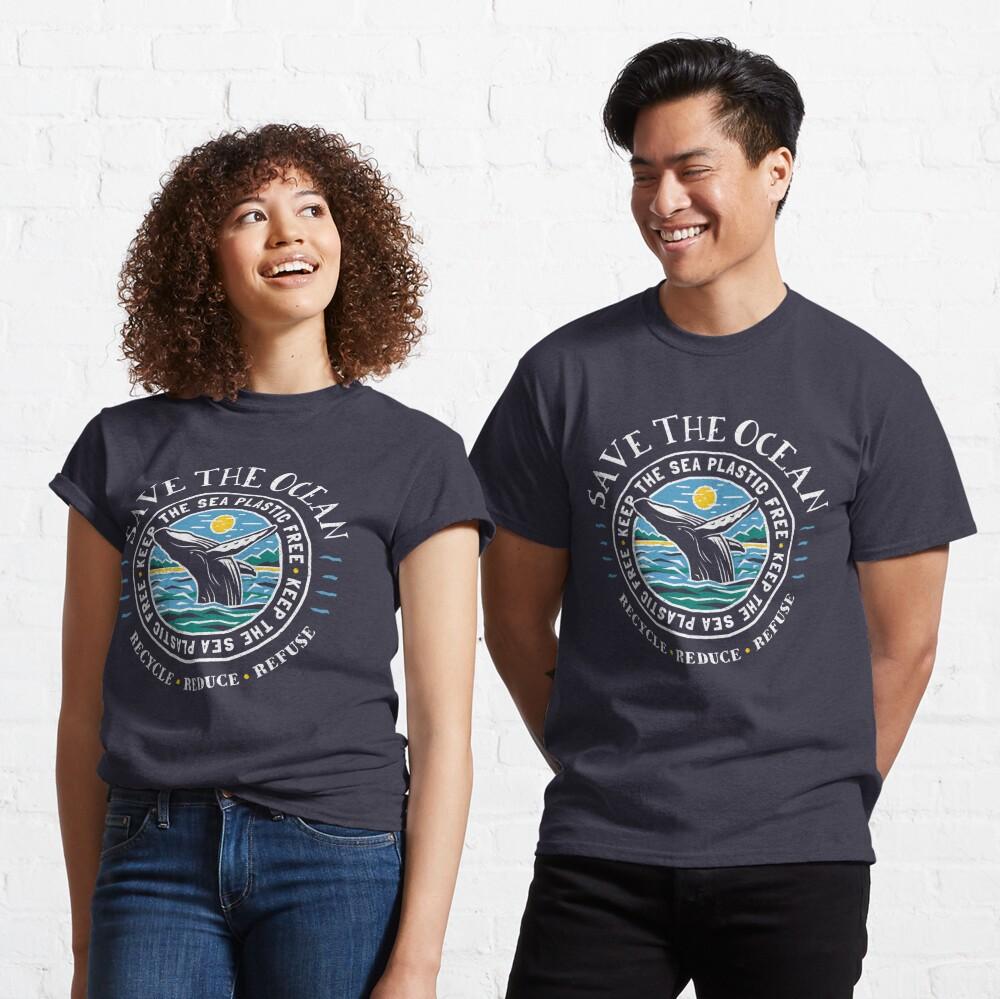 Save The Ocean - Keep the Sea Plastic Free - Humpback Whale Classic T-Shirt