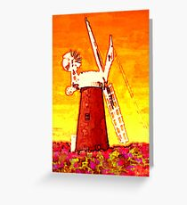 There's an old mill Greeting Card
