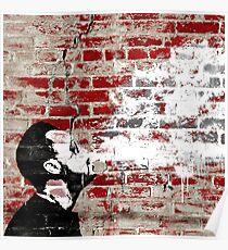 Póster Graffiti Man Vaping