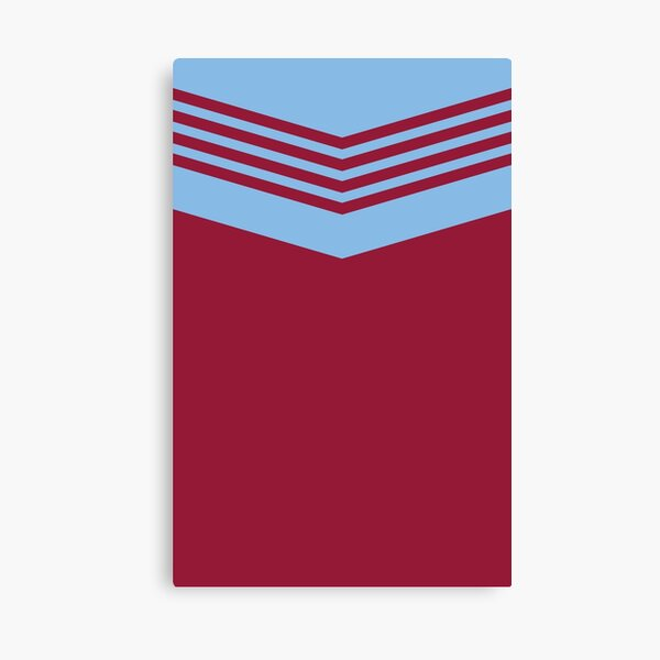 West Ham Retro 1976 Claret and Blue  Canvas Print