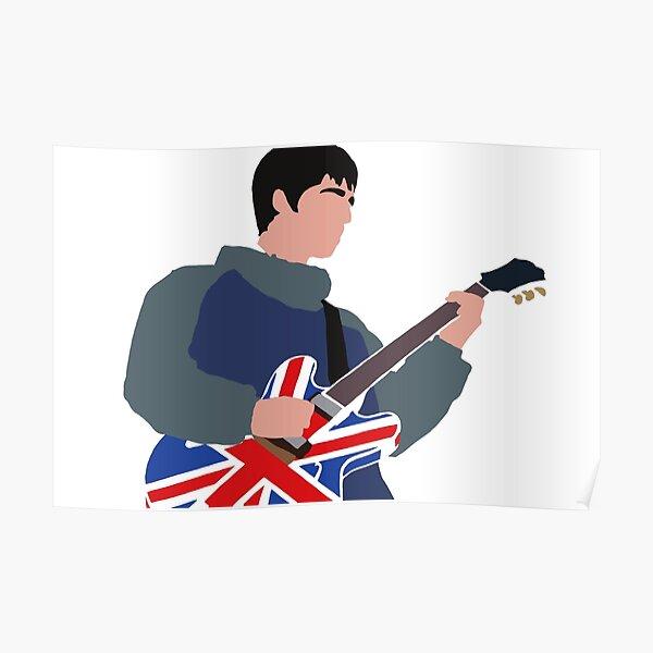 Noel Gallagher Oasis Design minimaliste Poster