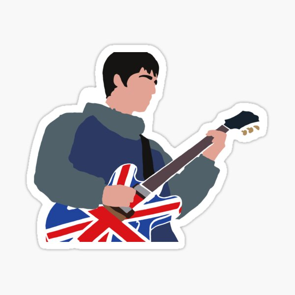 Noel Gallagher Oasis Minimalist Design Sticker