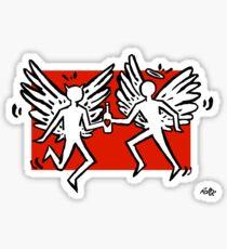Angel Demon Love - Transparent Sticker