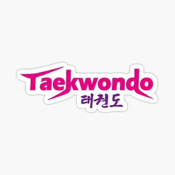 Taekwondo Logo  Sticker