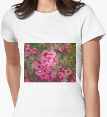 Pink Flower Power Womens Fitted T-Shirt