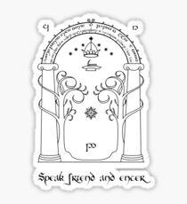 Speak friend and enter (light tee) Sticker