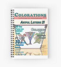 Cuaderno de espiral Colorations Magazine - Artful Letters 2