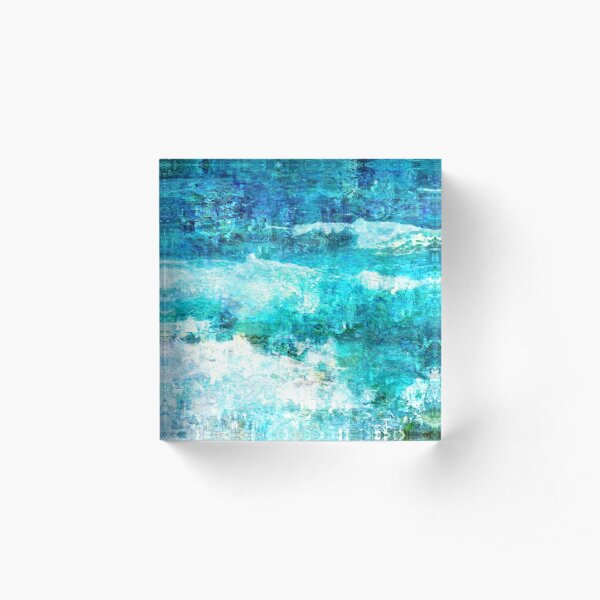 Ask The Waves Acrylic Block