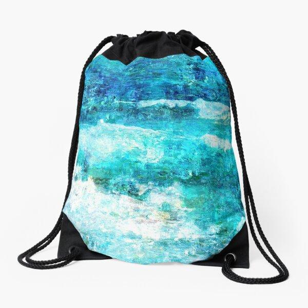 Ask The Waves Drawstring Bag