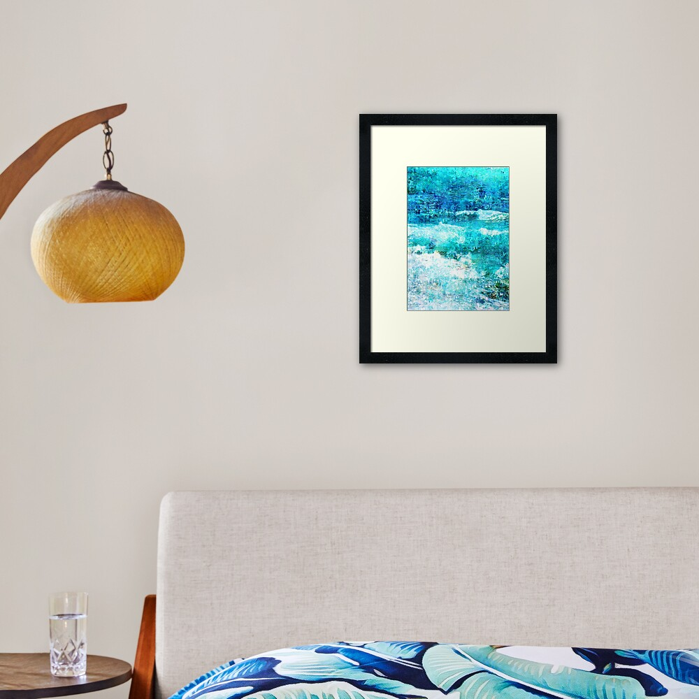 Ask The Waves Framed Art Print