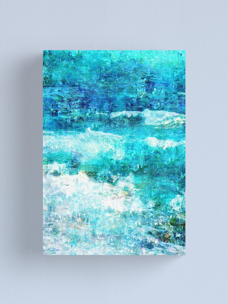 Alternate view of Ask The Waves Canvas Print