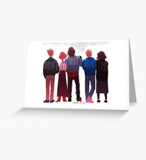 the club of five Greeting Card