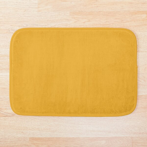 Best Seller Dark Golden Yellow Mustard Solid Color Coordinates With Coloro Mellow Yellow 034-70-33 Bath Mat