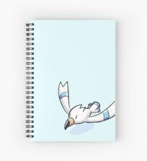 Wingull Crayon Sticker Spiral Notebook