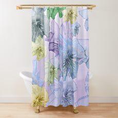 Pastellblumentraum, hübsche Panies Duschvorhang