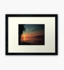 Sunset Over the Dock Framed Print