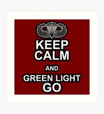 Green Light Go! Art Print