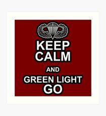 Green Light Go! Art Print