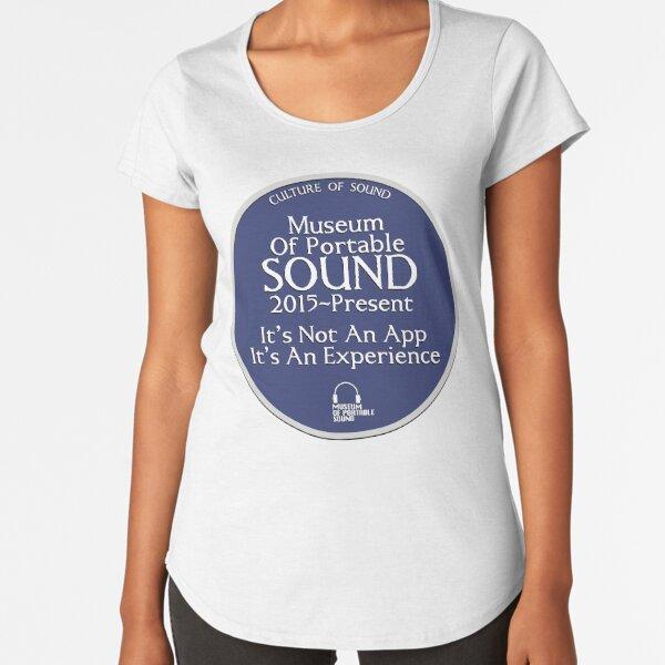 Culture of Sound Blue Plaque Premium Scoop T-Shirt
