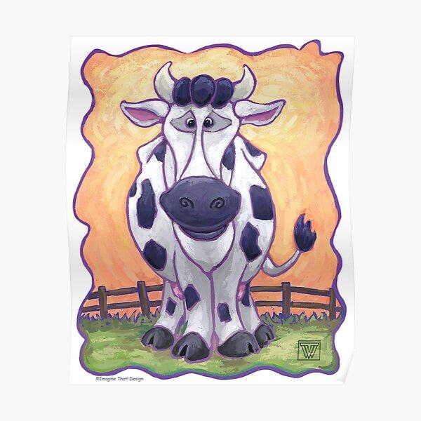 Animal Parade Cow Poster
