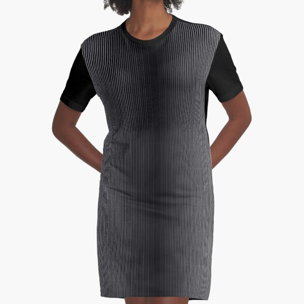 #Op #Art, #Symmetry, #Parallel, Geometry, Colorfulness, Architecture, Monochrome, Darkness, Pattern, Design, Repetition Graphic T-Shirt Dress