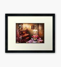 Hobby - Piano - The Music Room Framed Print