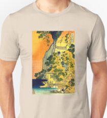 'Waterfalls in All Provinces' by Katsushika Hokusai (Reproduction) T-Shirt