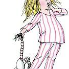 Yawning Eloise in her Pajamas by EloiseandWeenie