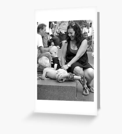 Mother and Children Greeting Card