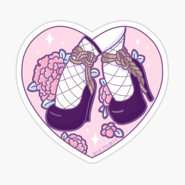 Shibari pink shoes Sticker