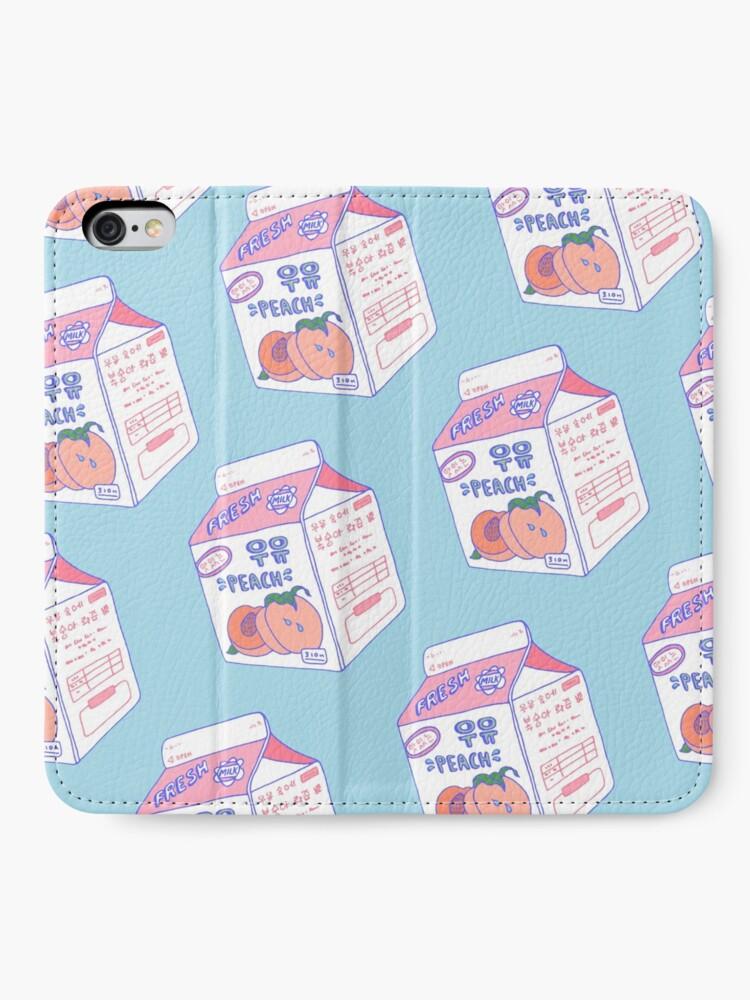 Alternate view of Peach Milk Carton iPhone Wallet