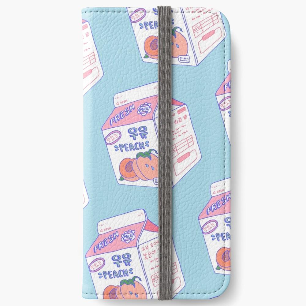 Peach Milk Carton iPhone Wallet