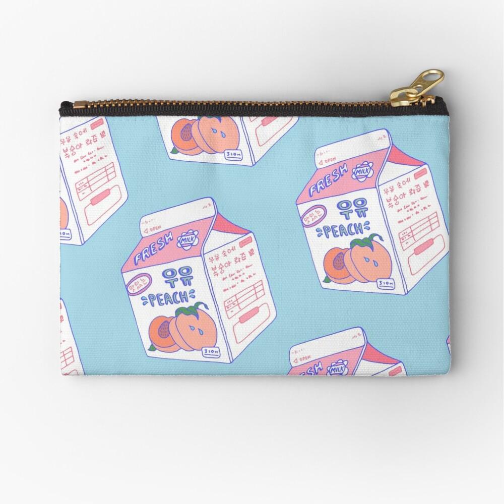 Peach Milk Carton Zipper Pouch