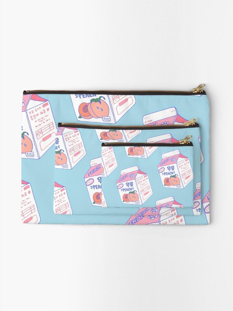 Alternate view of Peach Milk Carton Zipper Pouch
