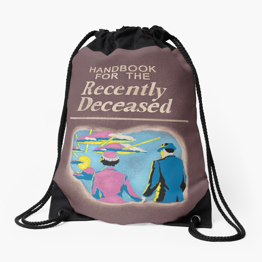 Handbook for the Recently Deceased Drawstring Bag