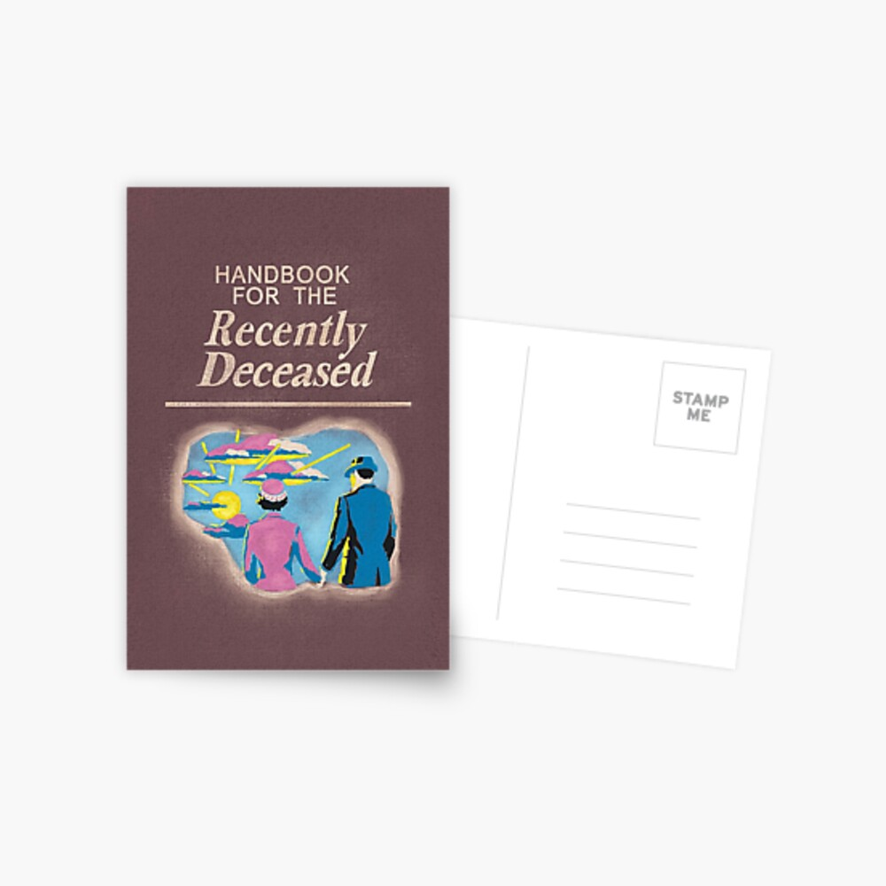 Handbook for the Recently Deceased Postcard