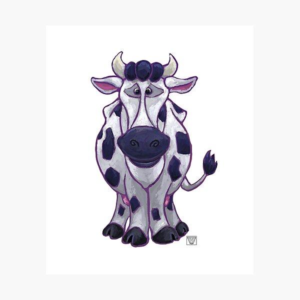 Animal Parade Cow Silhouette Photographic Print