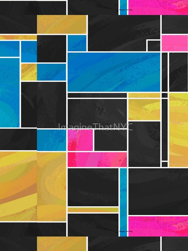 Mondrian Blue Pink Black  by ImagineThatNYC