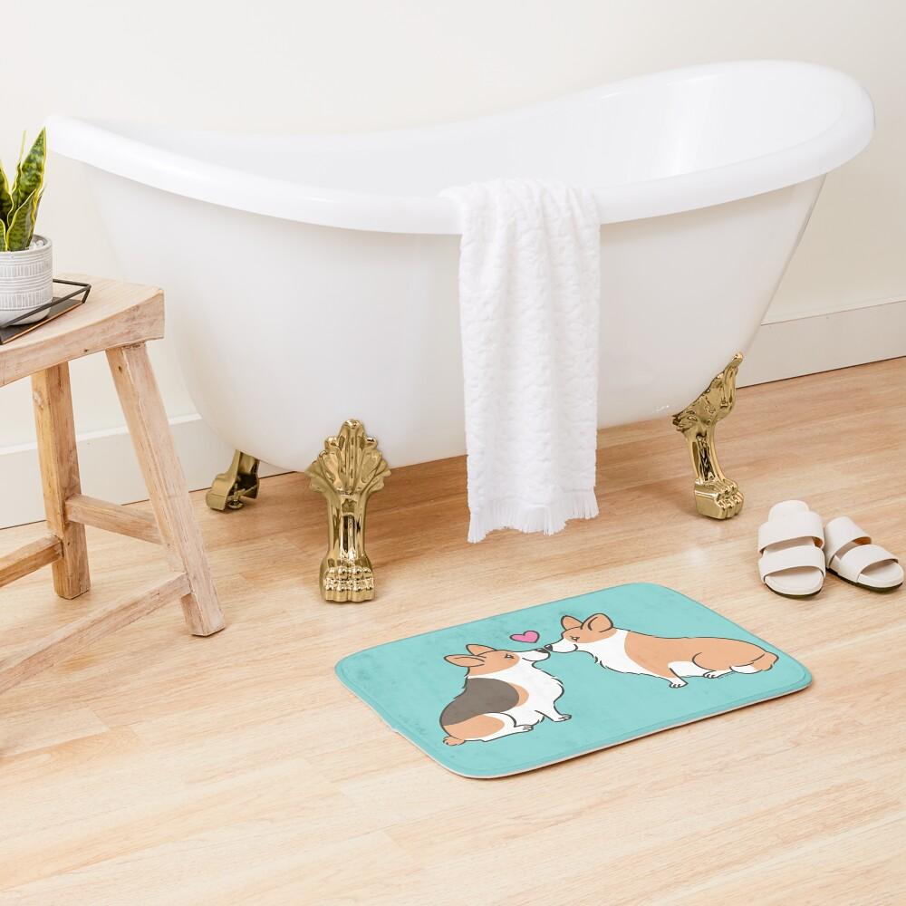 Corgi Love Bath Mat