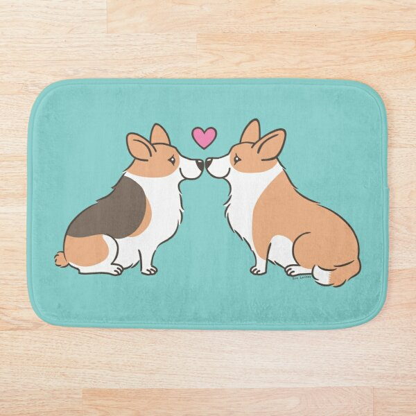 Corgi Love Bath Mat