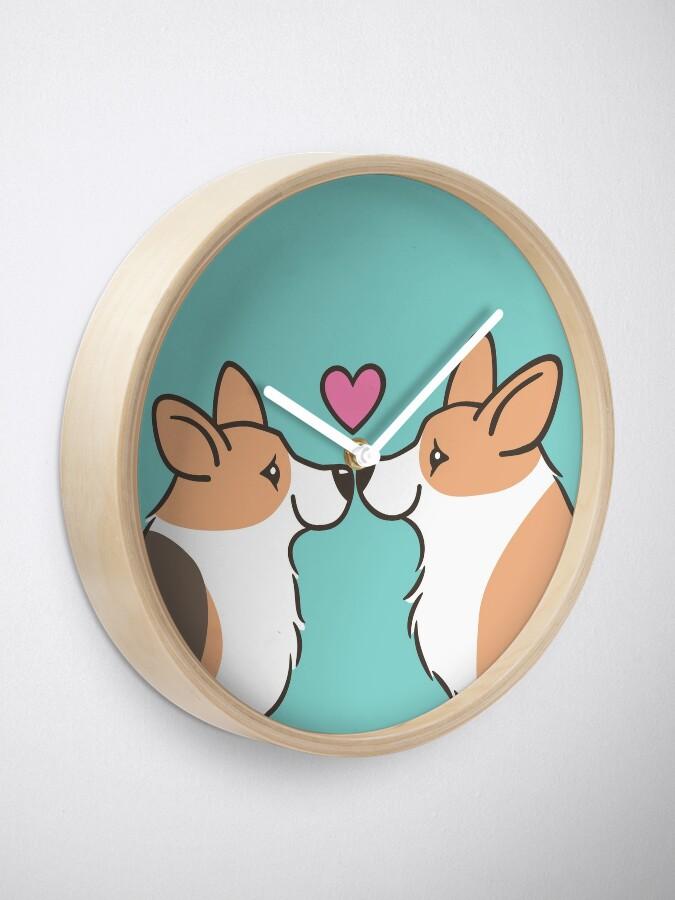 Alternate view of Corgi Love Clock