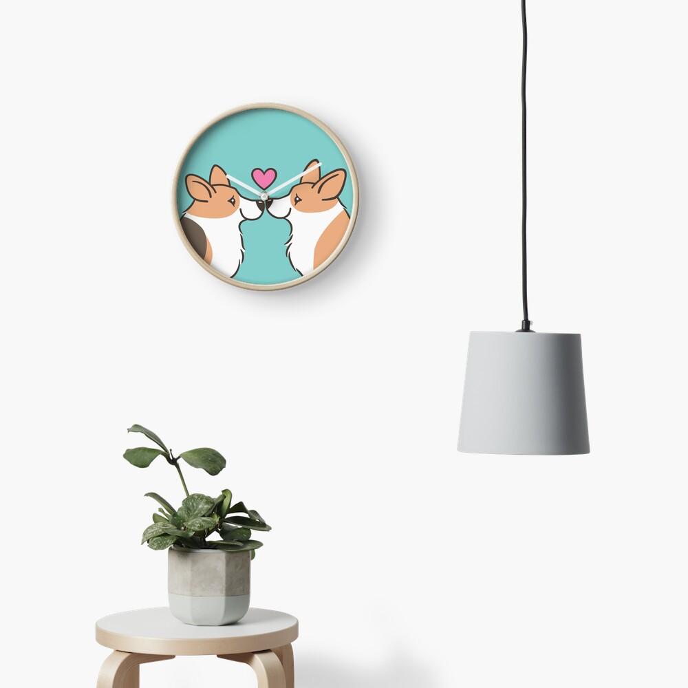 Corgi Love Clock