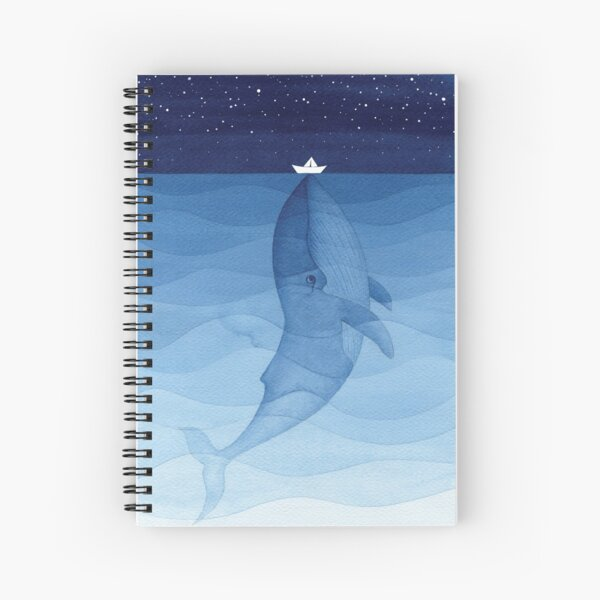 Blue whale, sea animal Spiral Notebook