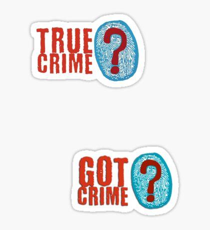 True Crime fingerprint Sticker