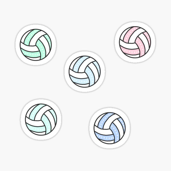 Cute Volleyball Pack Sticker