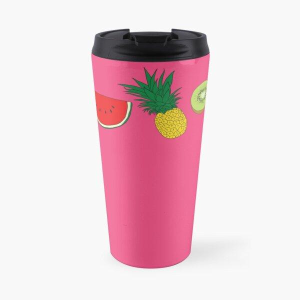 Summer Fruit Border Travel Mug