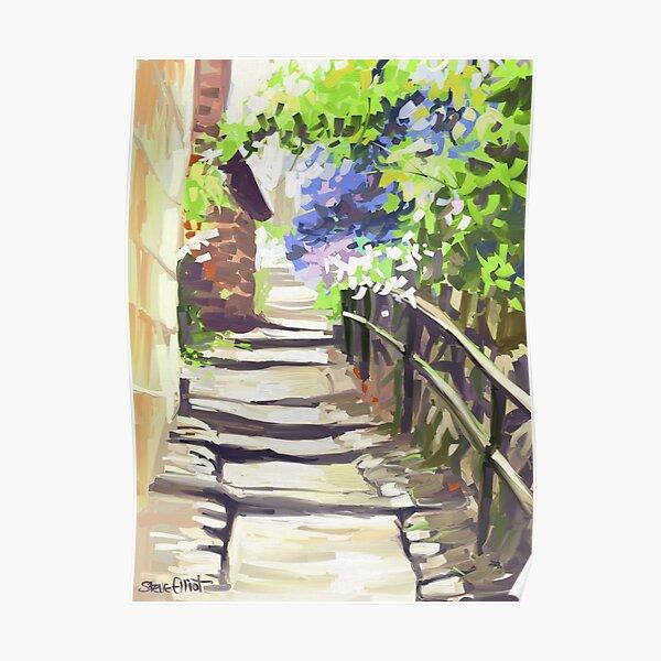 Sunny Steps at Robin Hood's Bay Poster
